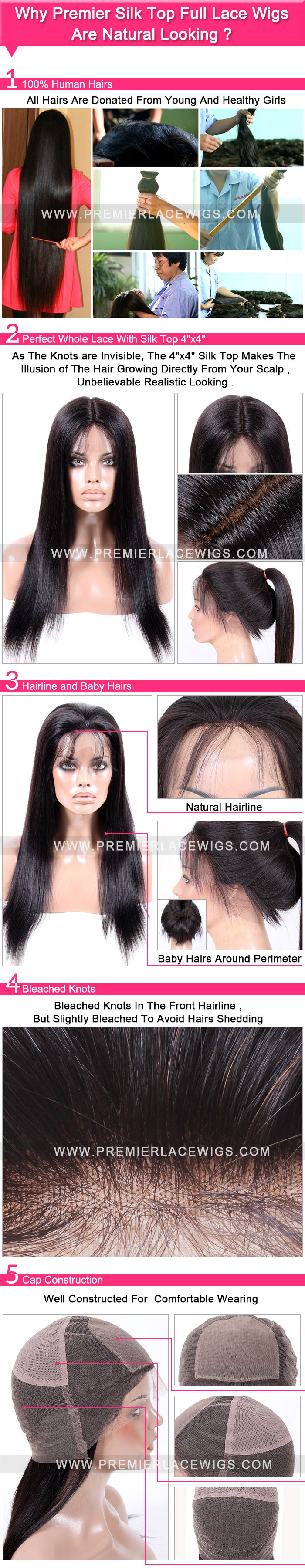 Why Silk Top Full lace wigs natural looking