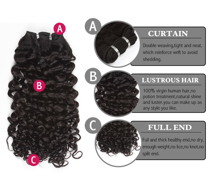 Brazilian virgin hair candy curl
