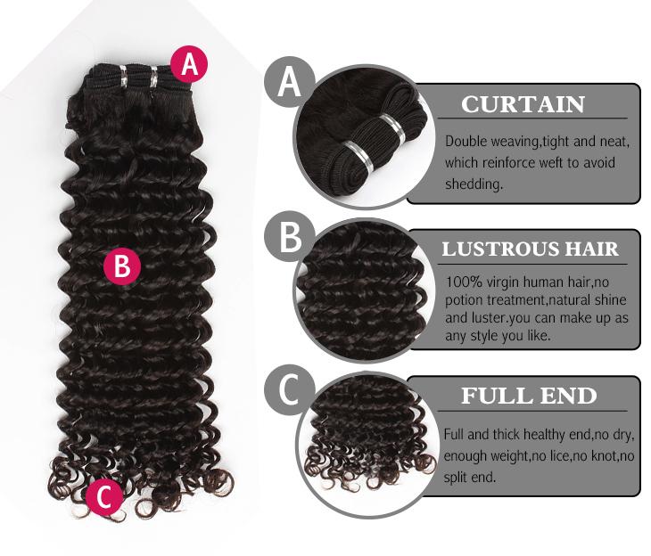 Brazilian virgin hair deep curl